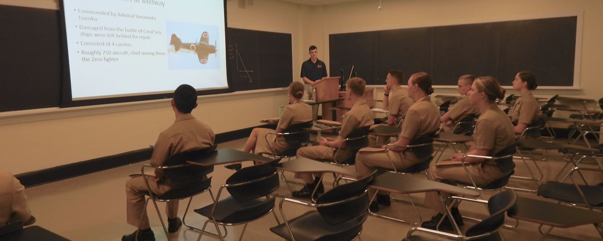 NROTC students in classroom